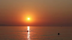 Amazing colors of sunset Stock Footage
