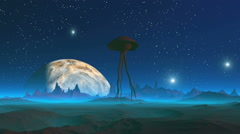Extraterrestrial Creature on an Alien Planet Stock Footage
