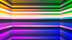 Broadcast Twinkling Horizontal Hi-Tech Bars Shaft, Multi Color, Abstract,Loop,4K Stock Footage