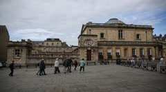 Roman Baths in the city of Bath Stock Footage