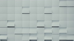 Abstract White Cube Turn, 3d Animation 4k Stock Footage