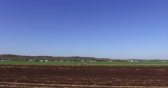 4K driving through Ontario farm country in the Holland marsh Stock Footage