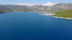 Gocek Turkey Aerial View Stock Footage