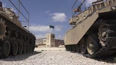 Israeli Military Museum - Tanks Stock Footage