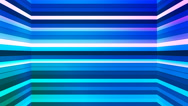 Broadcast Twinkling Horizontal Hi-Tech Bars Shaft, Blue, Abstract, Loopable, 4K Stock Footage