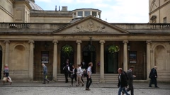Roman Baths in England Stock Footage