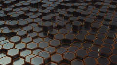 Abstract Hexagons Background Random Motion, 3d Loopable Animation 4k Stock Footage