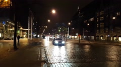 HELSINKI, UUSIMAA, FINLAND, Cars driving on old town streets in the <br><a href= Stock Footage
