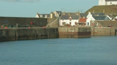 Findochy Harbour/Marina, Moray Stock Footage