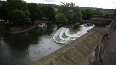 River Avon in the City of Bath Stock Footage