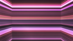 Broadcast Twinkling Horizontal Hi-Tech Bars Shaft, Purple, Abstract, Loop, 4K Stock Footage