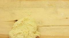 Ramadan recipes knead dough Monkey bread, also called monkey puzzle bread Stock Footage