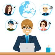 Freelance And Coworkers Stock Illustration