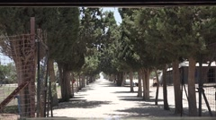 Entrance to Atlit detainee camp Stock Footage
