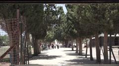 Entrance to Atlit detainee camp - Vistors Stock Footage