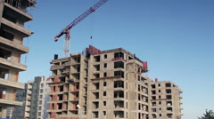 Multi Story Building with Empty Concrete Boxes Stock Footage