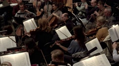 Rehearsal of Russian Symphony Orchestra. Stock Footage