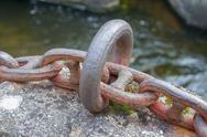 Metallic chain detail Stock Photos