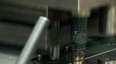 Machine bending metal sheet Stock Footage