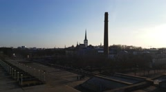 Pan view from the top of linnahall, in Tallinn, Estonia Stock Footage