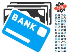 Credit Money Flat Vector Icon With Tools Bonus Piirros