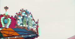 Fairground ride on Bournemouth Pier Stock Footage