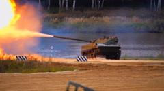 "Shot from 2S25 self-propelled anti-tank gun ""Sprut-SD"" Stock Footage"