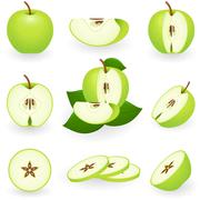 Green apple Stock Illustration