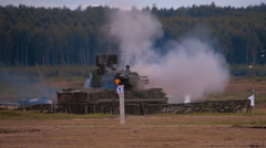 """Tunguska"" - Russia and the Soviet anti-aircraft gun-missile system Stock Footage"