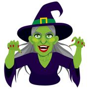 Old Evil Scary Witch Stock Illustration