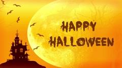 Happy Halloween spooky night card Stock Footage