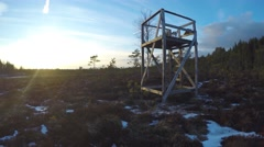 Time-lapse of a wilderness lodge, at a desert, in Raasepori, Finland Stock Footage