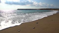 Cyprus beach, turtle nesting site. Stock Footage