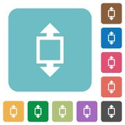 Flat height tool icons Stock Illustration