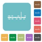 Flat radio tuner icons Stock Illustration