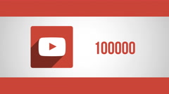 8k - Youtube view count going up Stock Footage