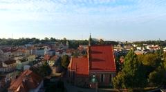 Polska, Bydgoszcz, Kościół farny, Stare miasto Stock Footage