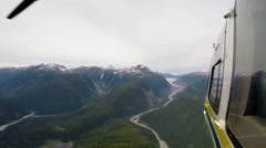 Helicopter Northern Canada Stock Footage