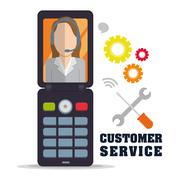 Customer support service icons Stock Illustration