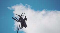 """Reconnaissance and attack helicopter of the new generation Ka-52 """"Alligator""""  Stock Footage"""