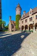 Medieval Gruuthuse Museum, Bruges Stock Photos