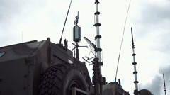 Antennas on military vehicles of communication Arkistovideo