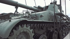Self-propelled artillery unit Stock Footage