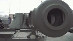 Muzzle brake compensator of tank gun Stock Footage