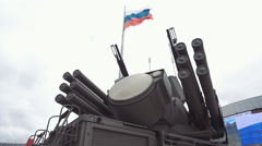 Russian weapons. If you want peace, prepare for war Stock Footage