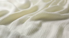 White Cotton Fabric Texture. used as a background. Tighting white cloth Stock Footage