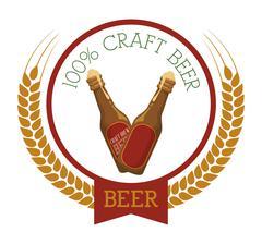 Premium quality craft brew beer Stock Illustration