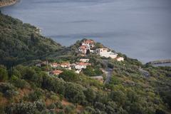 GREECE: Skopolis Island, Town of Glossa Stock Photos