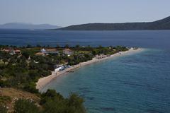 GREECE: Alonossis Island, Petros Beach WS Stock Photos