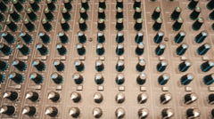Audio, video mixer with a large number of adjustments Stock Footage